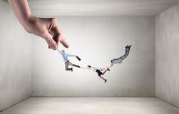 力量和控制的手 混合画法 免版税图库摄影