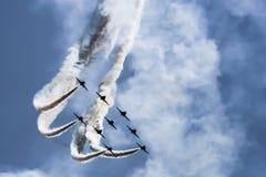 力量喷气机展示  图库摄影