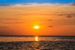 力量太阳落下 库存图片