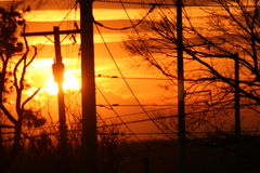 力量太阳 图库摄影