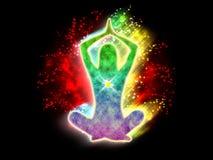 力量瑜伽能量 皇族释放例证