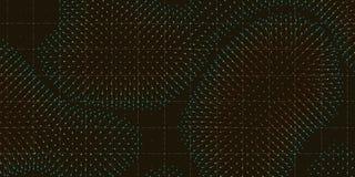 力量的传染媒介五颜六色的领域形象化 磁性或重心波动图 与a的科学背景 皇族释放例证