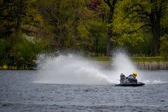 力量赛艇- Pell湖,威斯康辛 免版税库存图片