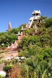 力量幻灯片塔在肋前缘的阿德赫泰国公园在特内里费岛 免版税图库摄影