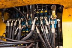 水力阀门工业管道系统  库存图片