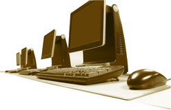 办公室个人计算机 免版税图库摄影