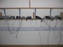 办公室修改电话 库存图片