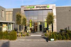 办公室公司Thuis在Bouwen在Meerkerk的郊区,网 库存照片