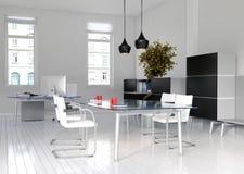 办公室内部和会议室 库存例证
