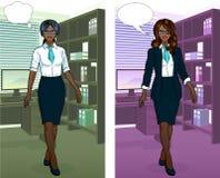 办公室内部的非洲女实业家 库存图片