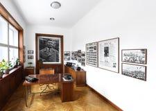 办公室内部巴塔别墅的在Zlin,捷克 库存照片