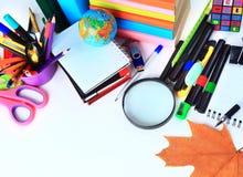 办公室和学生辅助部件 免版税库存照片