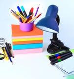 办公室和学生辅助部件 免版税图库摄影