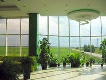 办公室和领域的窗口 免版税库存照片