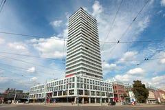 办公室塔,法兰克福奥得河,勃兰登堡,德国 免版税图库摄影