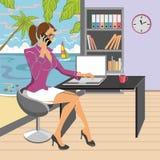 办公室妇女 免版税库存图片