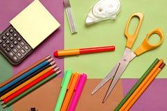 办公室学校用品 免版税库存图片