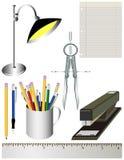 办公室学校用品 向量例证
