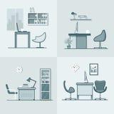 办公室室工作场所桌椅子内部室内 免版税库存图片