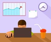 办公室工作地点的例证 免版税图库摄影