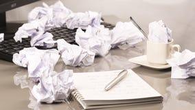 办公室工作场所-烧光 免版税图库摄影