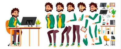 办公室工作者传染媒介 面孔情感,各种各样的姿态 动画创作集合 企业生意人幸福人员纵向 事业 现代雇员 皇族释放例证