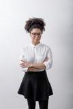 办公室工作者妇女的画象 免版税图库摄影