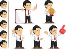 办公室工作者定制的吉祥人3 免版税库存照片