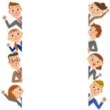 办公室工作者框架 皇族释放例证