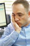 办公室工作者男性牙痛 免版税库存图片
