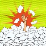 办公室工作者的强烈的工作 免版税库存图片