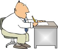 办公室工作者 向量例证