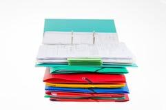 办公室文件夹和黏合剂 图库摄影