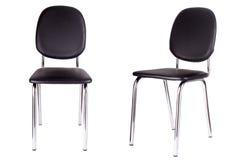 黑办公室椅子 查出在白色 库存图片