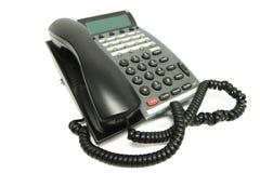 办公室电话白色 免版税库存照片