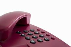 办公室电话红色 免版税库存图片