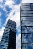 办公室的大厦在一个大大都会集中 免版税库存照片