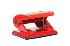办公室穿孔机红色 图库摄影