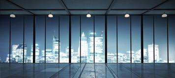 办公室窗口视图 免版税库存照片
