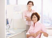 办公室纵向工作者 免版税库存图片