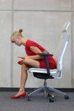 办公室职业病预防 免版税库存照片