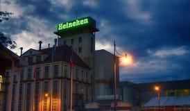办公室荷兰酿造的公司海涅肯在法国,啤酒生产设施 免版税库存照片