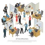 办公室设计观念的雇员 库存例证