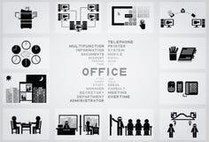办公室象 免版税库存图片