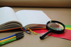 办公室辅助部件,办公室 免版税库存图片