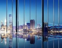 办公室都市风景Builidings当代内部室现代Co 免版税图库摄影