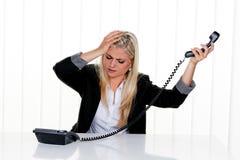 办公室重点妇女 免版税库存图片