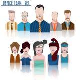 办公室队企业概念 免版税库存图片