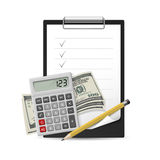 办公室项目 免版税图库摄影