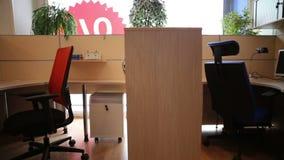 办公室 工作场所 办公室的家具 股票录像